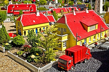 Skagen village made from lego bricks, Legoland, Denmark
