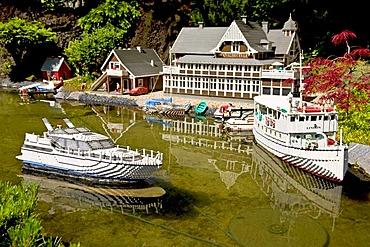 The Goeta Canal in Sweden made from lego bricks, Legoland, Denmark
