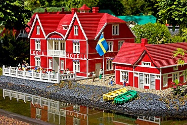 The Goeta hotel in Sweden made from lego bricks, Legoland, Denmark
