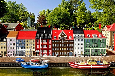 Nyhavn made from lego bricks, Legoland, Denmark