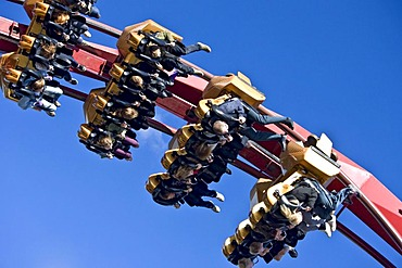The Demon roller coaster in Tivoli, Copenhagen, Denmark