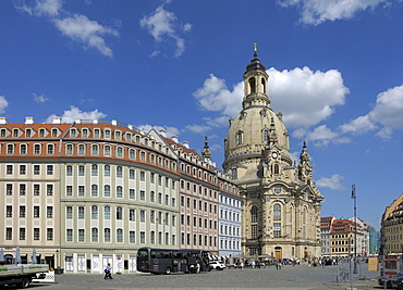 Frauenkirche Church of Our Lady, Neumarkt square, Dresden, Saxony, Germany, Europe