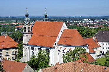 Heiligkreuzkirche church, Landsberg am Lech, Bavaria, Germany, Europe