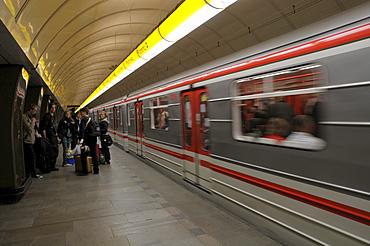 Metro station, Prague, Czech Republic, Europe