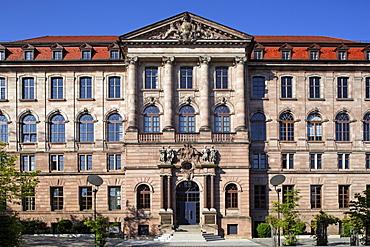 Portal, Gewerbemuseum trade museum, built 1892-1897, concept Theodor von Kramer, historism, old town, Nuremberg, Middle Frankonia, Frankonia, Bavaria, Germany, Europe