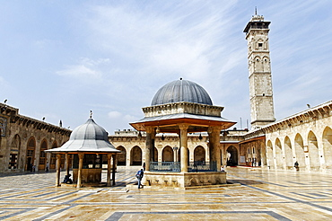 Umayyad Mosque, Grand Mosque in the historic centre of Aleppo, Syria, Middle East, Asia