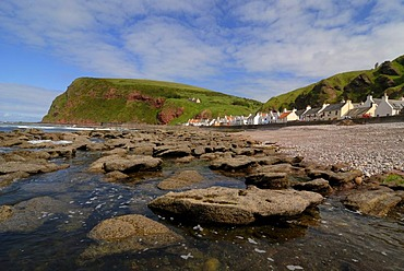 Crovie fishing village on the northern coast of Scotland, Great Britain, Europe