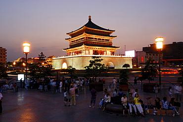 Drum Tower, Gu Lou, evening mood, Xian, Shaanxi, China, Asia