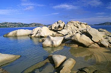 Granite rock formation, coast of Palau, Sardinia, Italy, Europe