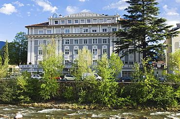 Hotel Meranerhot at Passer River, Merano, Trentino, Alto Adige, Italy, Europe