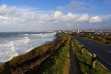 """Coast near Socoa during storm """"Klaus"""", Basque Country, France"""