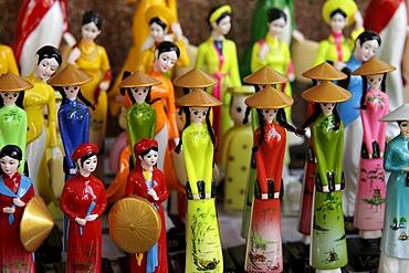 Vietnamese traditional dolls in Ho Chi Minh City, Saigon, Vietnam, Asia