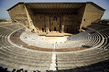 The Roman theater from the 1st century AD in Orange, Provence, France, Europe