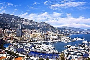 View of the Port of Hercules, La Condamine, Monte Carlo, Monaco, Europe