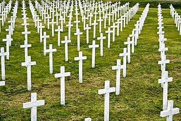 Cemetery of the Croatian soldiers killed in the defence of the city Vukovar by military attacks on the city from the JNA-supported Serbs in the Croatian War of Independence, in Vukovar, Croatia