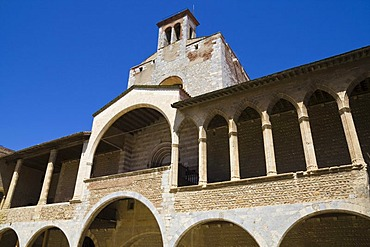 Front of the east wing, palace of the Kings of Mallorca, Perpignan, Pyrenees-Orientales, Roussillon, Languedoc-Roussillon, South France, France