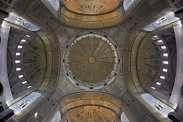 Inner view, cupolas of the Saint Sava Cathedral, Belgrade, Serbia