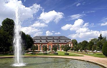 Orangery and the Orangeriegarten gardens, Darmstadt, Hesse, Germany, Europe