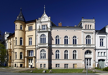 Schranzenvillen mansions, former homes of senior officials in the vicinity of the castle of Schwerin, Mecklenburg-Western Pomerania, Germany, Europe