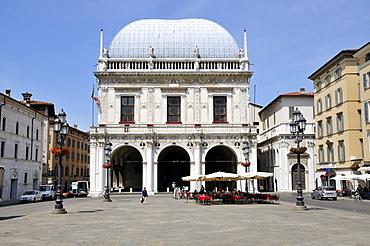 Loggia Palace, Piazza della Loggia, Brescia, Lombardy, Italy, Europe