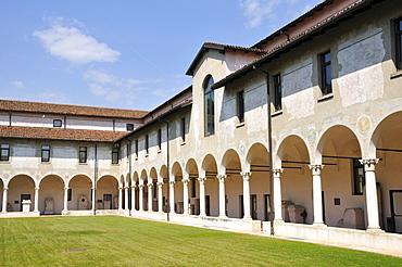 Cloister, Santa Giulia monastery and museum, Brescia, Lombardy, Italy, Europe