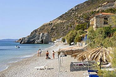 White beach, Melinda, Lesbos, Aegean Sea, Greece, Europe