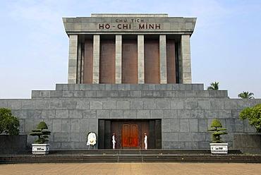 Ho Chi Minh Mausoleum, front view, Hanoi, Vietnam, Southeast Asia, Asia