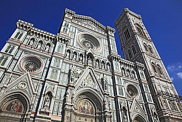 Campanile and Florence Cathedral, Basilica di Santa Maria del Fiore, Firenze, Florence, Tuscany, Italy, Europe
