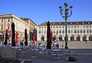 Piazza San Carlo, Turin, Torino, Piedmont, Italy, Europe
