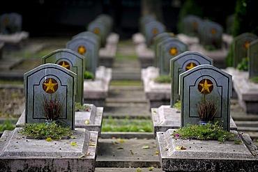 War graves, DinhBin, North Vietnam, Southeast Asia