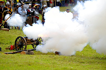 Cannon being fired