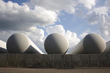 Natural gas tanks, Biberach ad Riss, Upper Swabia, Baden-Wuerttemberg, Germany, Europe