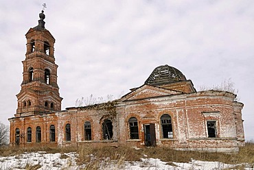 Russian Orthodox country church, destroyed during Soviet period, Vladimir city region, Russia