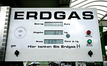Natural gas filling station, Forchheim, Bavaria, Germany, Europe