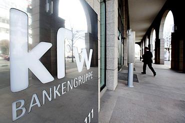 Headquarters of the Kreditanstalt fuer Wiederaufbau, KfW, development banking group, Frankfurt am Main, Hesse, Germany, Europe