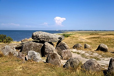 Harhoog dolmen, megalithic tomb, Keitum, Sylt, North Frisia, Schleswig-Holstein, Germany, Europe