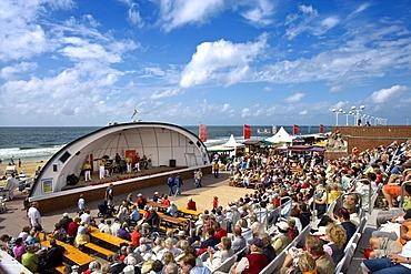 Concert Shell on Westerland Promenade, Westerland, Sylt, Nordfriesland, Schleswig-Holstein, Deutschland