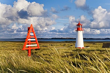 List-West Lighthouse, northern part of the island known as Ellenbogen, Sylt, North Frisia, Schleswig-Holstein, Germany, Europe