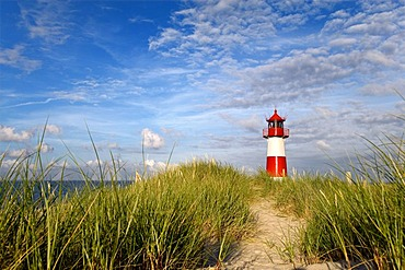 List-Ost Lighthouse, northern part of the island known as Ellenbogen, Sylt, North Frisia, Schleswig-Holstein, Germany, Europe