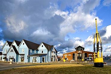 Tonnenhalle restaurant, harbour, List, Sylt Island, North Frisia, Schleswig-Holstein, Germany, Europe
