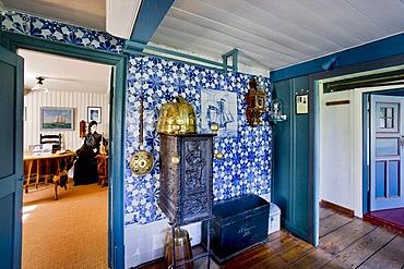 Kapitaenszimmer, Captain's room, in the Oeoemrang Hus, Amrum, North Frisia, Schleswig-Holstein, Germany