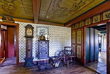 Interior, Altfriesisches Haus, old Frisian house, museum, Keitum, Sylt, North Frisia, Schleswig-Holstein, Germany, Europe