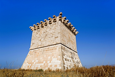Old Venetian watchtower at Cape Kiti, near Pervolia, Southern Cyprus, South Coast, Cyprus, Europe