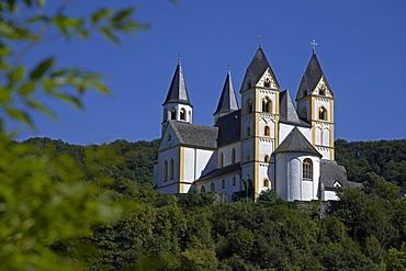 Kloster Arnstein Abbey on the Lahn river near Obernhof, Rhineland-Palatinate, Germany, Europe