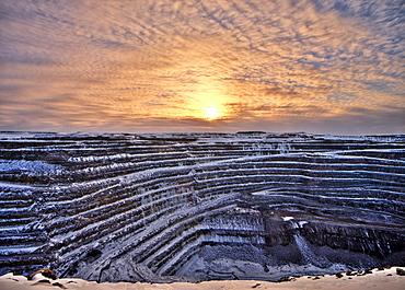 Ore mine in Gaellivare, Sweden, Scandinavia, Europe