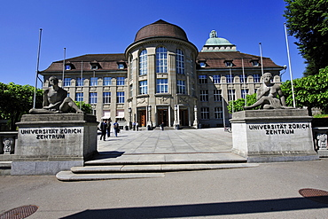 Entrance to the University of Zurich, Switzerland, Europe