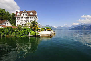 Hotel Central in Weggis by Lake Lucerne, Canton of Lucerne, Switzerland, Europe