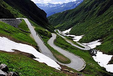 Tremola, the old Gotthardpass Road, Switzerland, Europe