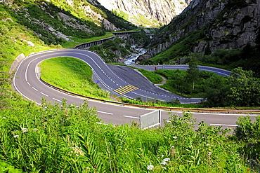 Gotthard Pass in the canton of Uri, Switzerland, Europe