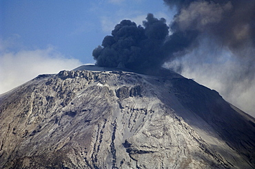 Eruption of Ol Doinyo Lengai volcano in 2007, northern Tanzania, Africa